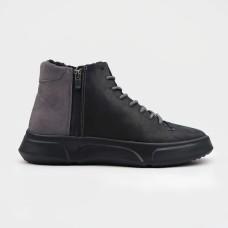 Ботинки черные комбинированные 35121-BLK