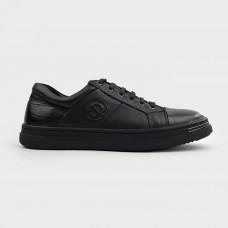 Кроссовки черные кожаные CA1257-BLK