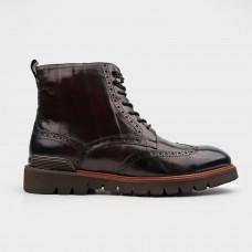 Ботинки коричневые кожаные YR1130-BRO
