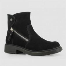 Ботинки черные замшевые B764094-BLK