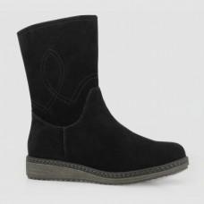 Ботинки черные замшевые B764104-BLK