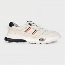 Кроссовки белые кожаные Z712-WHI