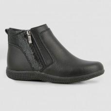 Ботинки черные кожаные B772074-BLK