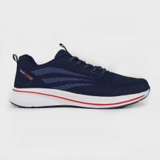 Кроссовки синие текстильные 695-7-NAV