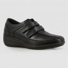 Кроссовки черные кожаные B772894-BLK