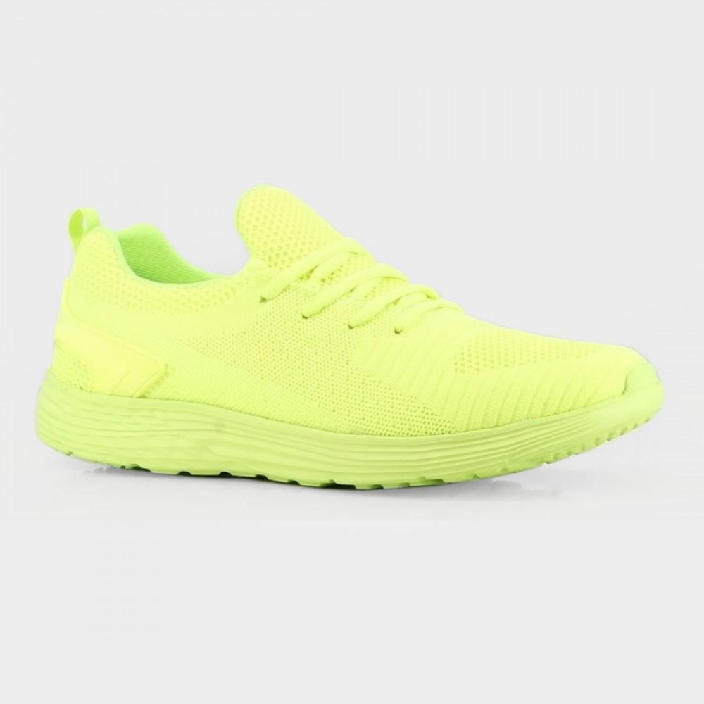Кроссовки зеленые текстильные B381193-GRE