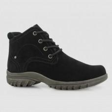 Ботинки черные замшевые B764114-BLK