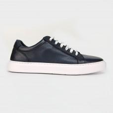 Кеды синие кожаные Y013-NAV