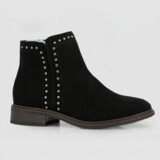 Ботинки черные замшевые B756114-BLK