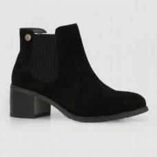 Ботинки черные замшевые B756124-BLK