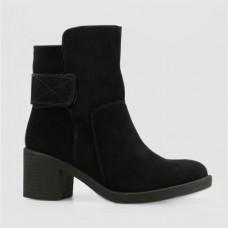 Ботинки черные замшевые B752098-BLK