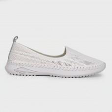 Балетки белые кожаные C316-1-WHI