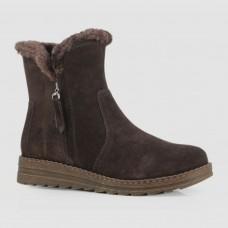 Ботинки коричневые замшевые B764064-BRO