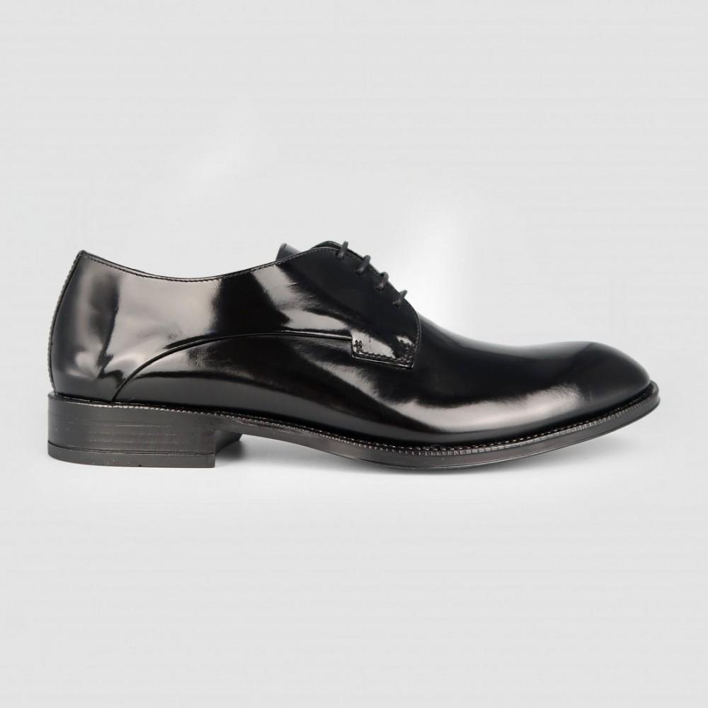 Туфли черные кожаные 1200FLO-BLK
