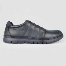 Кроссовки синие кожаные 5312-NAV