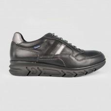 Кроссовки черные кожаные 5573-BLK