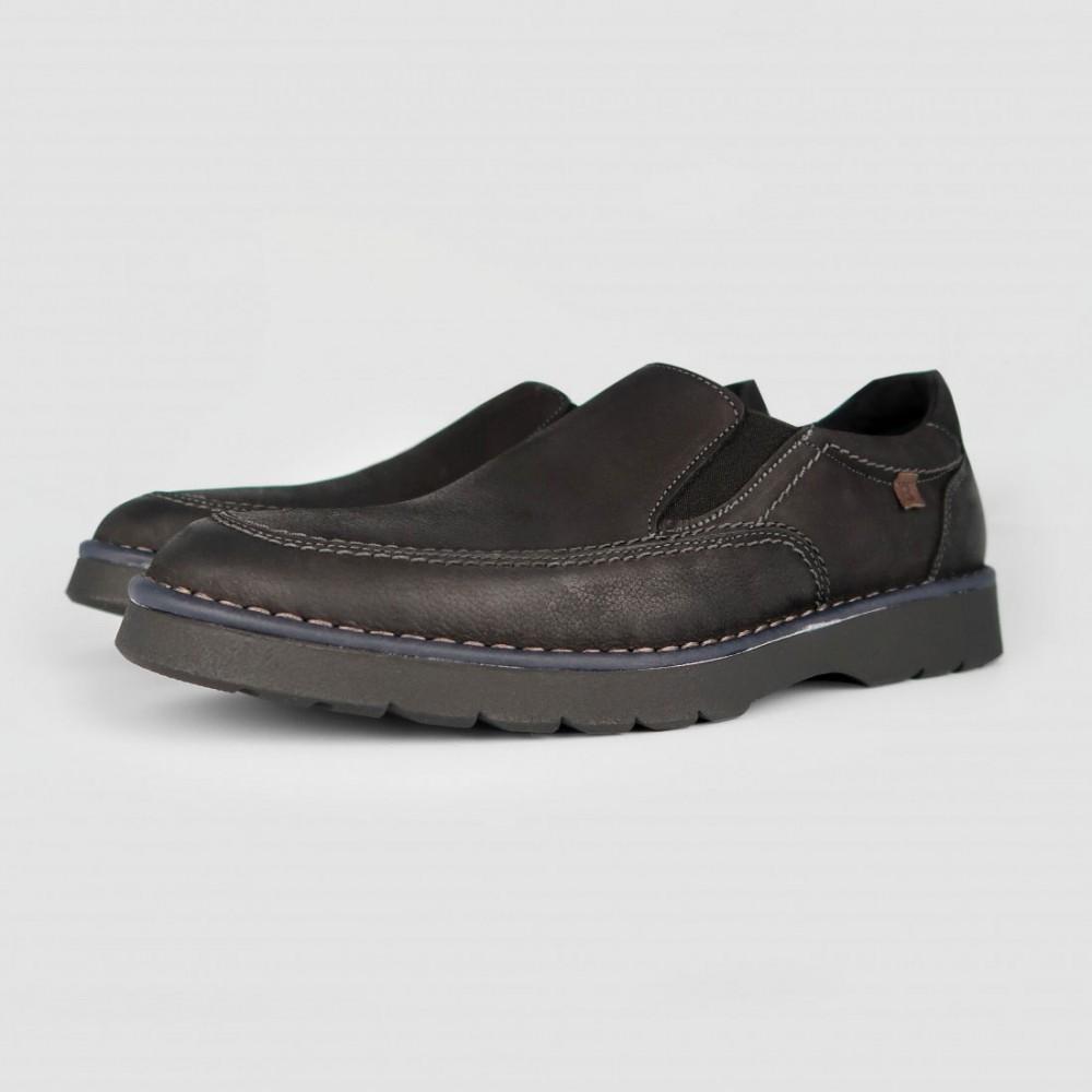 Мокасиные черные кожаные 3651-BLK