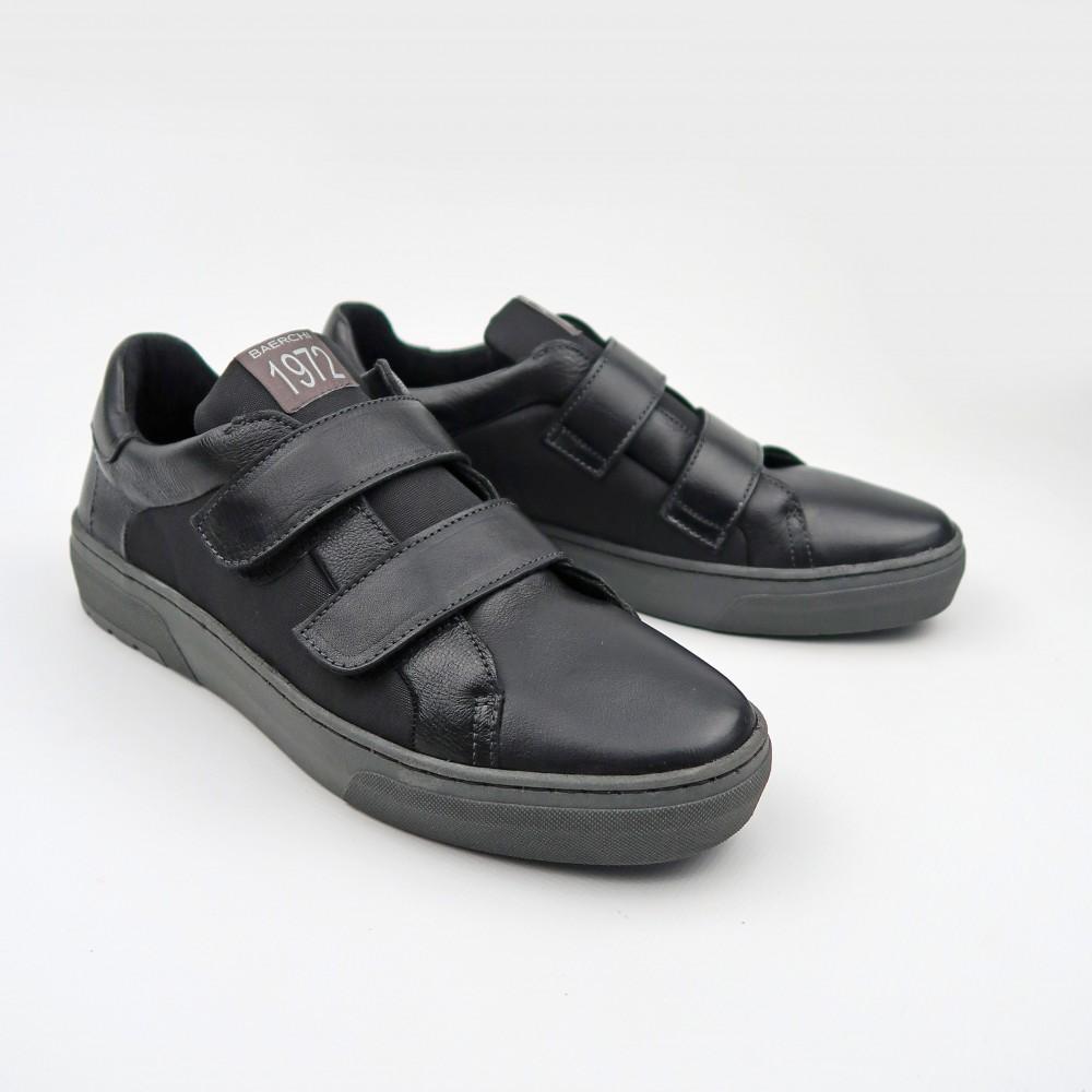Кеды черные кожаные 4161Т-BLK