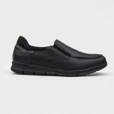 Мокасины черные кожаные 4223-BLK