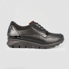 Кроссовки черные кожаные 52601-BLK