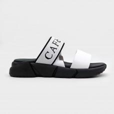 Белые кожаные босоножки GFF121-WHI