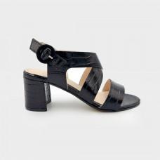 Босоножки черные кожаные A45158-BLK