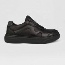 Кроссовки черные кожаные 35019-BLK