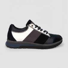 Кроссовки синие комбинированные 35020-NAV
