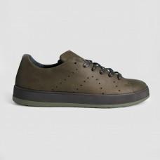 Кроссовки зеленые кожаные 35015-GRE