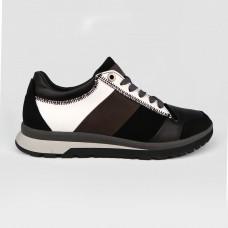 Кроссовки черные комбинированные 35020-BLK