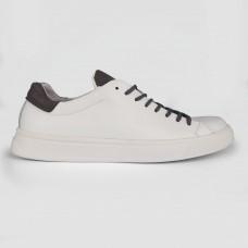 Кроссовки белые кожаные 35017-WHI