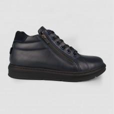 Ботинки синие кожаные 35122-NAV