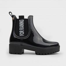 Черные резиновые ботинки челси 56079-BLK