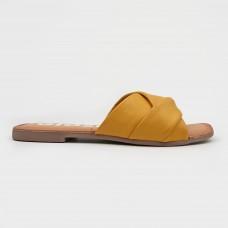 Желтые кожаные шлепанцы 59861-YEL