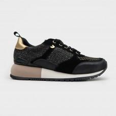 Черные веганские кроссовки из экокожи 58627-BLK