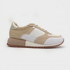 Белые веганские кроссовки из экокожи 58627-WHI