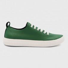 Кроссовки зеленые кожаные 1505-GRE