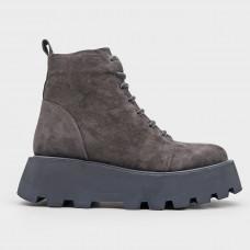 Серые замшевые ботинки 5327-GRA