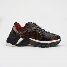 Черные комбинированные кроссовки ER334G-BLK