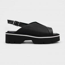 Черные кожаные босоножки MOT1750-BLK