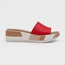 Красные кожаные шлепанцы 80125-RED