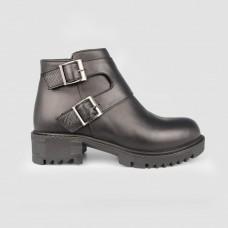 Ботинки черные кожаные 90200-BLK