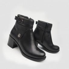 Ботинки черные кожаные 90206-BLK