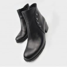 Ботинки черные кожаные 90207-BLK