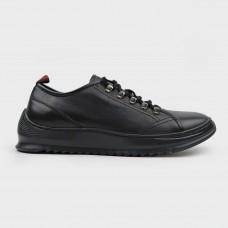 Кроссовки черные кожаные CA1220-BLK