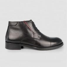 Ботинки черные кожаные YR1101-BLK
