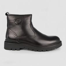 Ботинки черные кожаные YR1114-BLK