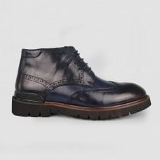 Ботинки синие кожаные YR1128-NAV