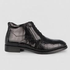Ботинки черные кожаные YR1132-BLK