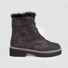 Ботинки серые замшевые JA481-GRA